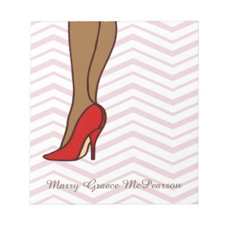Red High Heels Stiletto Fashion Notepad