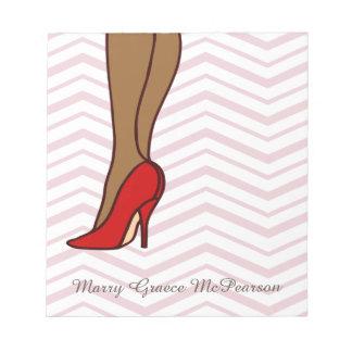 Red High Heels Stiletto Fashion Scratch Pads