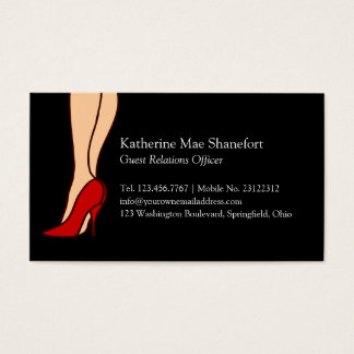 Red High Heels Stiletto Style Business Card