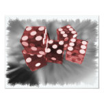 Red High Roller Dice Las Vegas 4.25x5.5 Paper Invitation Card