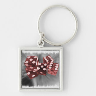 Red High Roller Dice Las Vegas Keychain