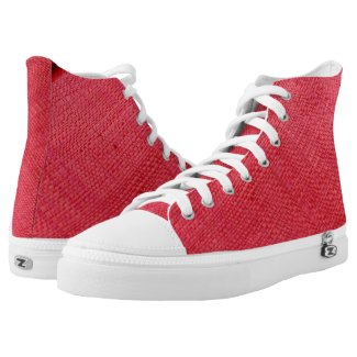 Red High-Top Sneakers