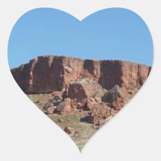 Red Hill Heart Sticker