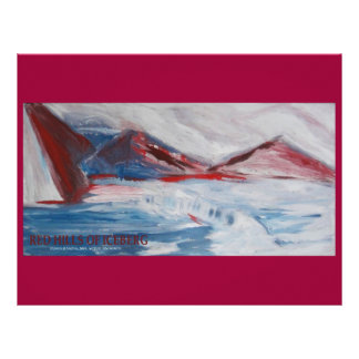 RED HILLS OF ICEBERG SCRAPBOOK PAPER LETTERHEAD