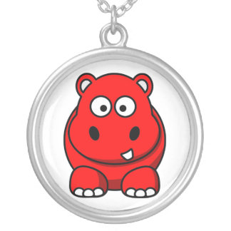 Red Hippo Necklace