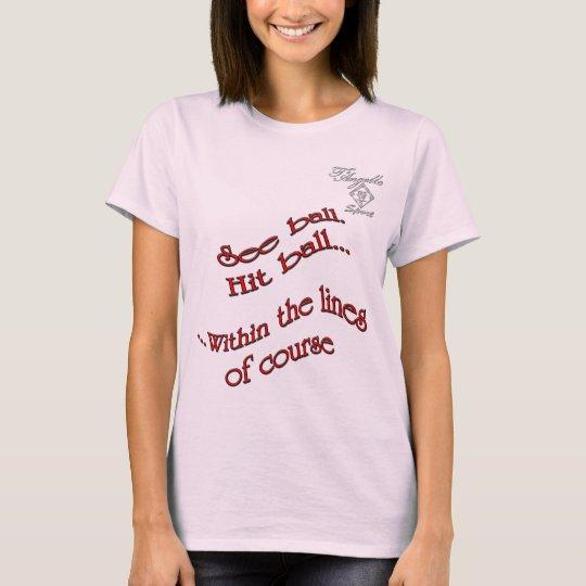 red hit ball Tennis Women's Basic T-Shirt