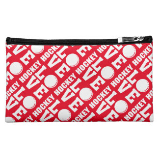 Red Hockey Love Makeup Accessories Bag