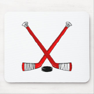 Red Hockey Mouse Pad