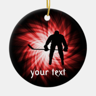 Red Hockey Christmas Ornaments