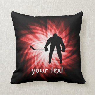 Red Hockey Pillow
