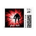 Red Hockey Postage Stamp