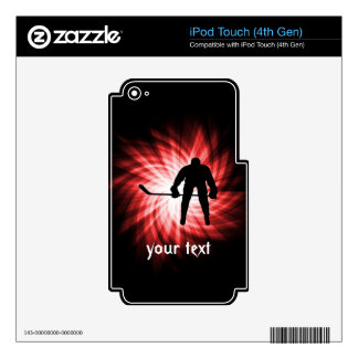 Red Hockey Skins For iPod Touch 4G