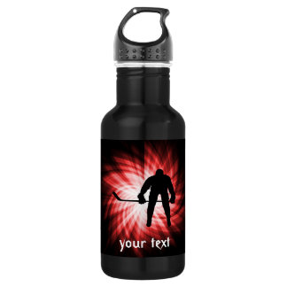 Red Hockey Stainless Steel Water Bottle