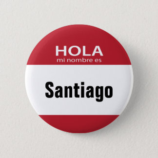 Red Hola Mi Nombre Es hello button