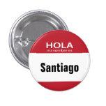 Red Hola Mi Nombre Es hello button