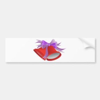 Red Holiday Bell Bumper Sticker