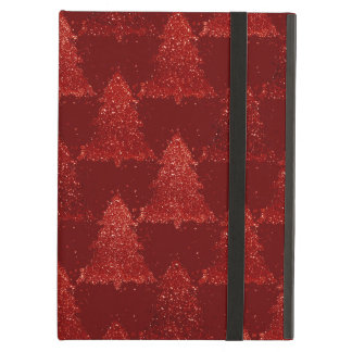 Red Holiday Christmas Trees Modern Festive Pattern Case For iPad Air