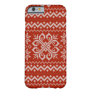 Red Holiday Embroidery Barely There iPhone 6 Case