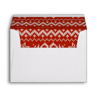 Red Holiday Embroidery Envelope