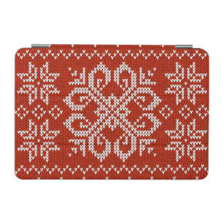 Red Holiday Embroidery iPad Mini Cover
