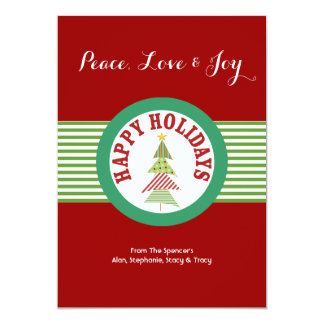 Red Holiday Medallion Christmas Cards