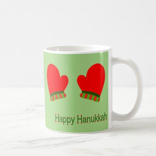 Red Holiday Mittens (Happy Hanukkah) Coffee Mug
