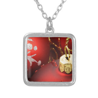 Red Holiday Ornaments Necklace