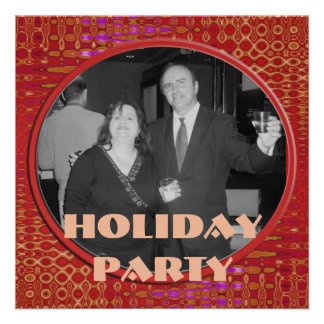 Red Holiday Party Personalized Invitation