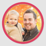 Red Holiday Photo Stickers