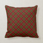 Red Holiday Plaid Pillows