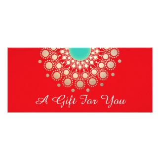Red Holiday Salon and Spa Gift Certificate Rack Card Template