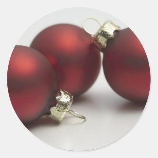 Red Holiday Tree Balls Custom Christmas Seals