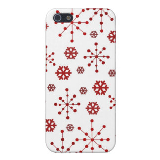 Red Holidays Snowflakes Cover For iPhone SE/5/5s