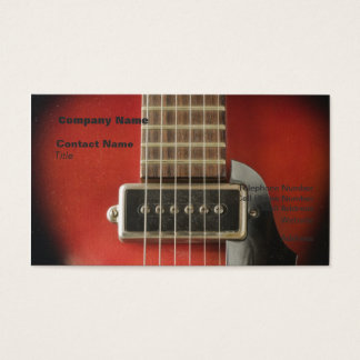 Red HollowBody Guitar Pick-up Business Card