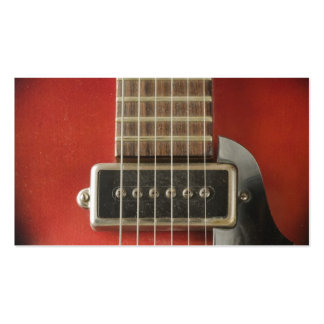 Red HollowBody Guitar Pick-up Business Cards