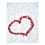 Red Holly Berry Heart Custom Letterhead