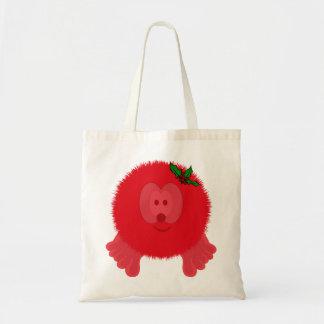 Red Holly Bow Pom Pom Pal Bag