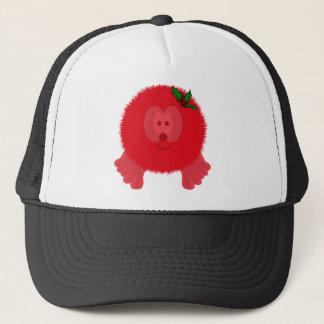 Red Holly Bow Pom Pom Pal Hat