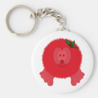 Red Holly Bow Pom Pom Pal Keychain