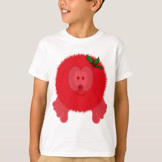Red Holly Bow Pom Pom Pal T-Shirt