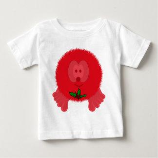 Red Holly Tie Pom Pom Pal Baby T-Shirt