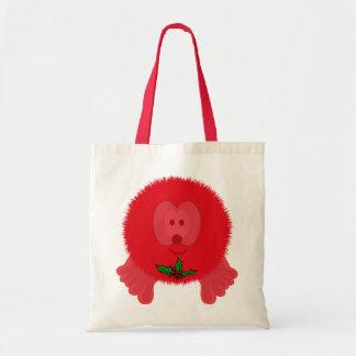 Red Holly Tie Pom Pom Pal Bag