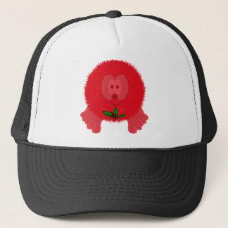 Red Holly Tie Pom Pom Pal Hat