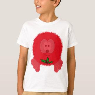 Red Holly Tie Pom Pom Pal T-Shirt