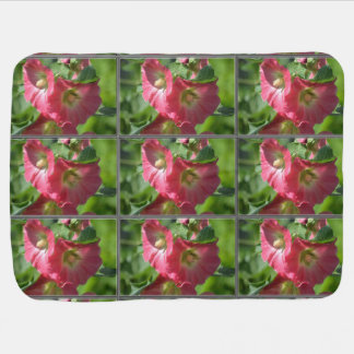 Red Hollyhock Baby Blankets
