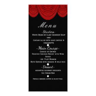 Red HOLLYWOOD Curtains Elegant Glam Party Menu