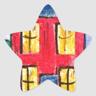 red home by pixi -art.com star sticker