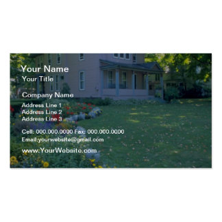 Red Home in Upstate New York flowers Business Card