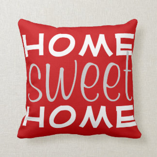 Red Home Sweet Home Throw Pillow