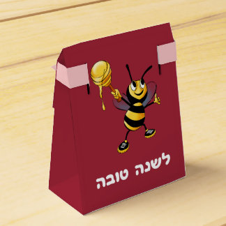 Red Honey Bee Rosh HaShana Favor Box